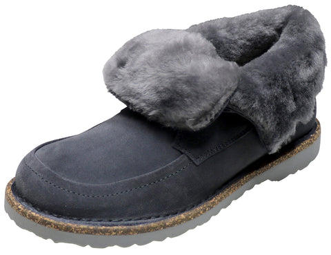 Birkenstock Bakki, Graphite, Hydrophobic-Leather
