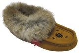 Women's Suede Slipper, lined, rubber, Chinchilla, rust
