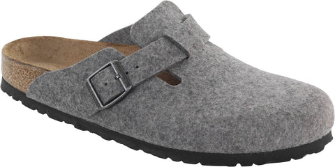 Birkenstock Boston Grey Wool Felt