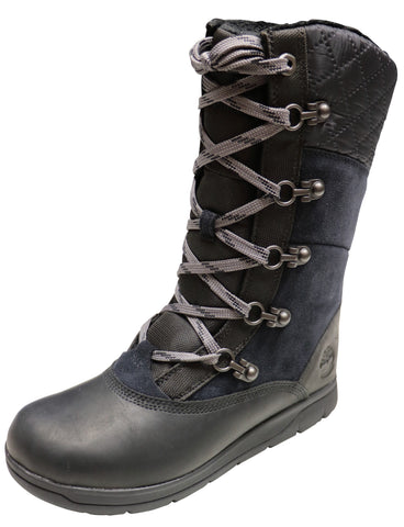Timberland Women's Haven Point Waterproof Winter Boot Black Full Grain