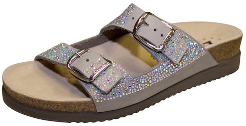 Mephisto Women's Harmony Sandal, Diamonds, Light Grey