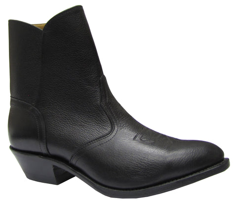 Men Medium Cowboy Toe Cowboy Heel Leather Sole Side Zipper