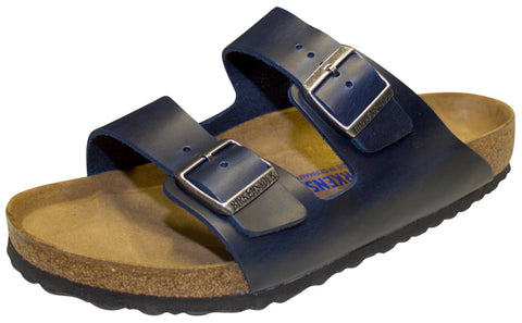 Birkenstock Arizona Soft Foot-bed, Blue, Oiled Leather
