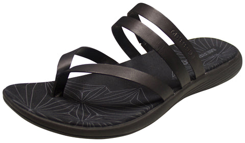 Merrell Women's Duskair Seaway Post Leather Sandal Black