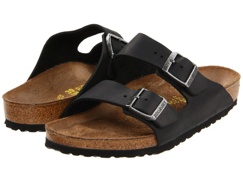 Birkenstock Arizona, black, Oiled Leather