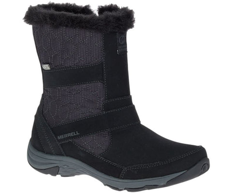 Merrell Women's Albury Tall Polar Waterproof Snow Boots, Black