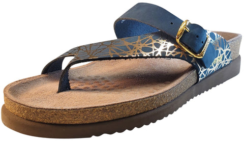 Mephisto Women's Helen Sandal, Navy Graphic