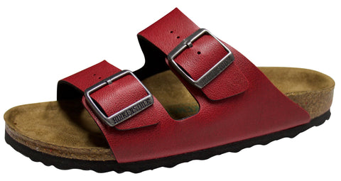 Birkenstock Arizona Vegan, Birko-Flor, Pull up Bordeaux