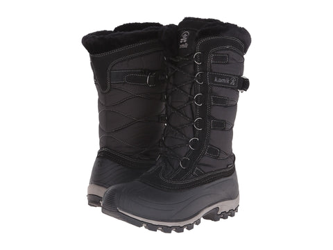 Kamik Womens Snowvally Black Snow Boots Black
