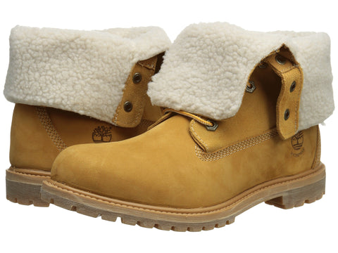 Women's Timberland Authentics Teddy Fleece Fold-Down Wheat