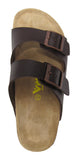 Women 2 Buckle Slide-Brama Brown