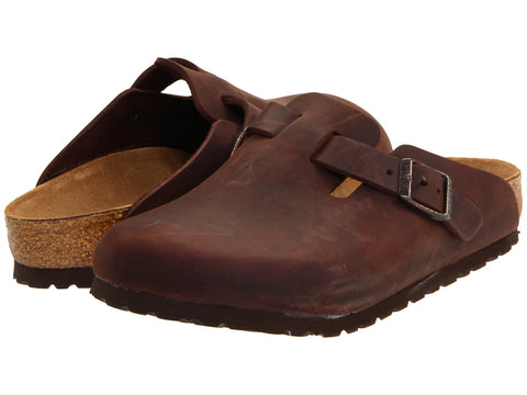 Birkenstock Boston Havana Natural Leather