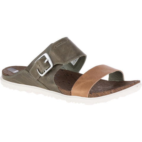 Merrell Women's Around Town Buckle Slide Sandals Vertiver Olive