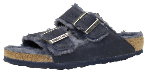 Birkenstock Arizona, Mink, Suede/Shearling, Night