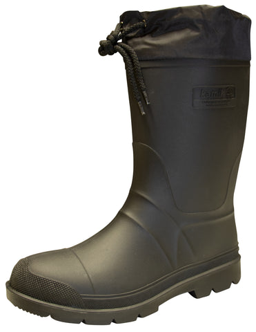 Kamik Men's Hunter Insulated Rubber Black Boots