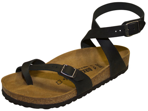 Birkenstock Yara, Black, Oiled Leather