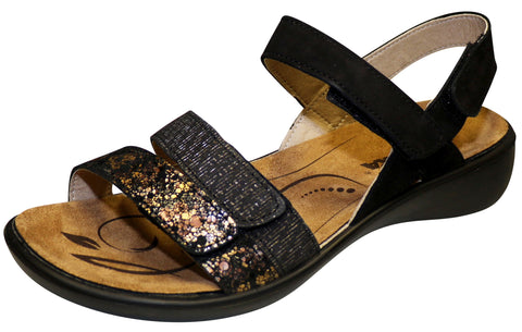 Romika Women's Ibiza 103 Sandal, Black Combination