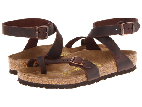 Birkenstock Yara, Havana, Oiled Leather