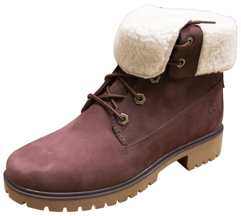 Timberland Aut Teddy Fleece Burgundy Nubuck