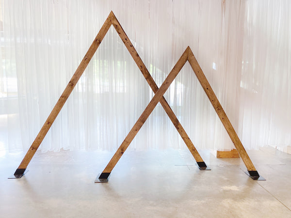 Double Triangle Arch Backdrop