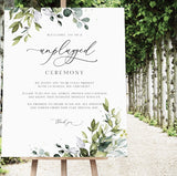 Unplugged Ceremony Watercolour Sign + Floor Easel