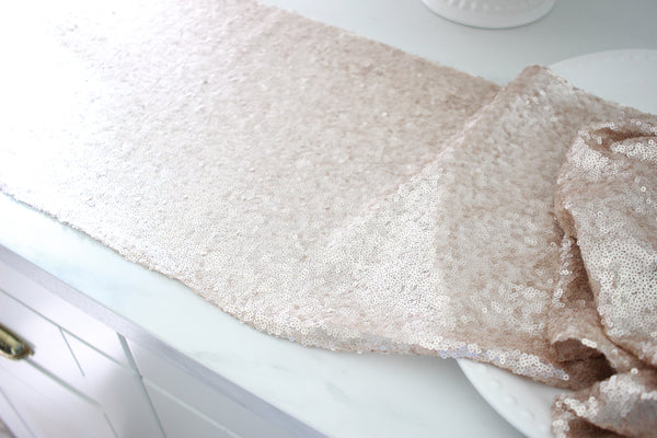 Champagne / Blush Sequin Runner