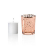 Rose Gold Mercury Glass Votives (Set of 50)