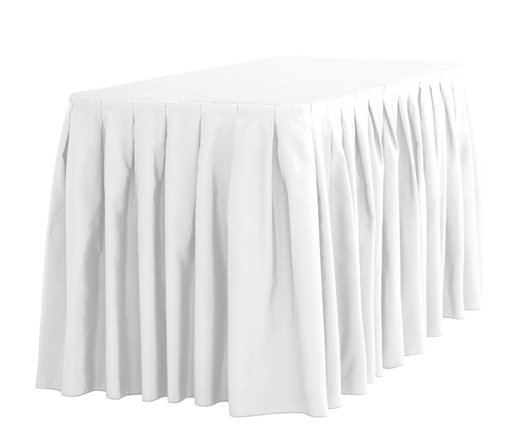 Premium Pleated Tableskirt - 17'