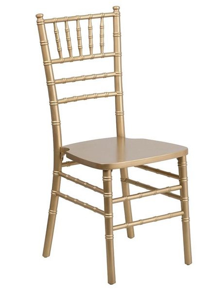 Chiavari Chairs with Premium White Vinyl Cushion