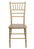 Chiavari Chairs with Premium White Vinyl Cushion & Free Dolly Rental