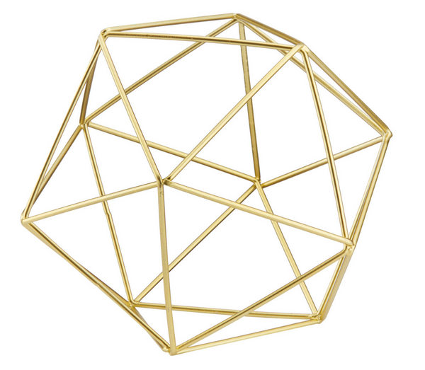 Gold Geometric Ball Centerpiece Decor