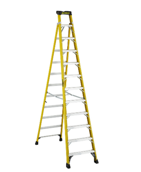 12 Feet Fibreglass Cross Step Ladder