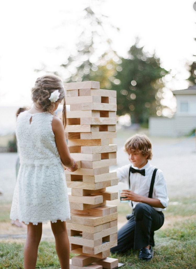 Outdoor Lawn Games - Giant Jenga, Bean Bag Toss, Washer Toss