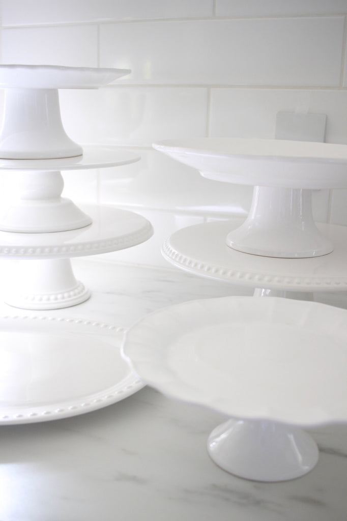Dessert Styling - Set of White Cake Stands / Platters