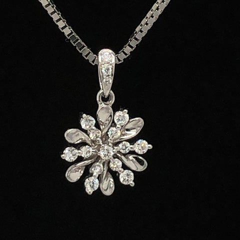 Diamond Snow Flake Pendant