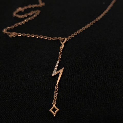 Rose Gold Lightening Necklace