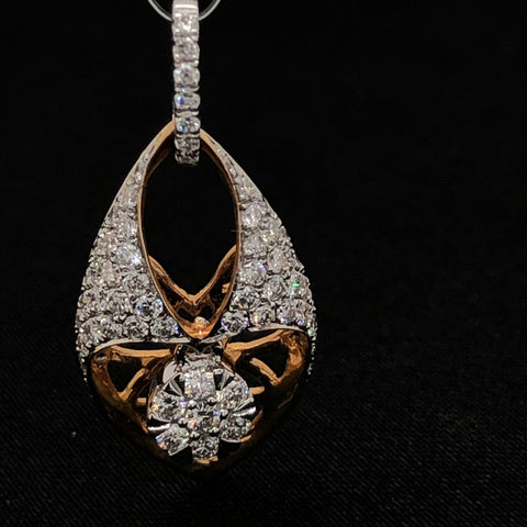 Cocktail Rose Gold Diamond Pendant