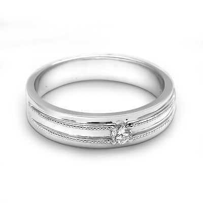 SIMPLE MEN'S WEDDING BAND - F03474M