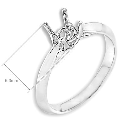 Sem-Mount Solitaire Ring F06180R