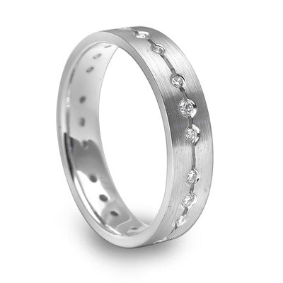 SPACED OUT DIAMOND RING FOR GENTS - J04082M