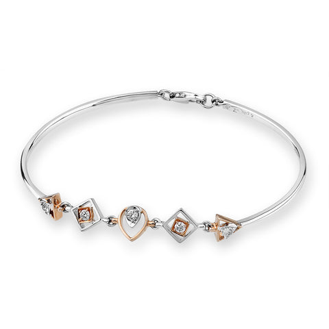 3 SHAPED DIAMOND BRACELET - J04122A