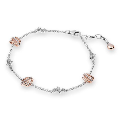 ROSE & WHITE GOLD DIAMOND BRACELET - J04650B