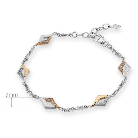 2 TONED DIAMOND BRACELET - J11512B
