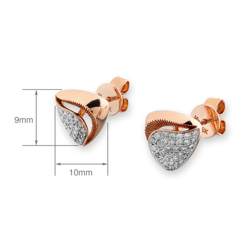 ROSE GOLD DIAMOND EARRINGS  -  J11585E