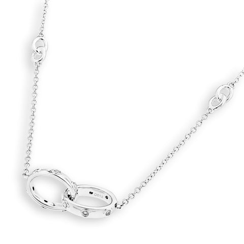 2 RING DIAMOND NECKLACE - J12728N