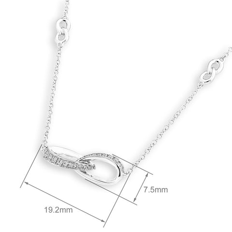 2 RING INTERLINK DIAMOND NECKLACE - J12730N