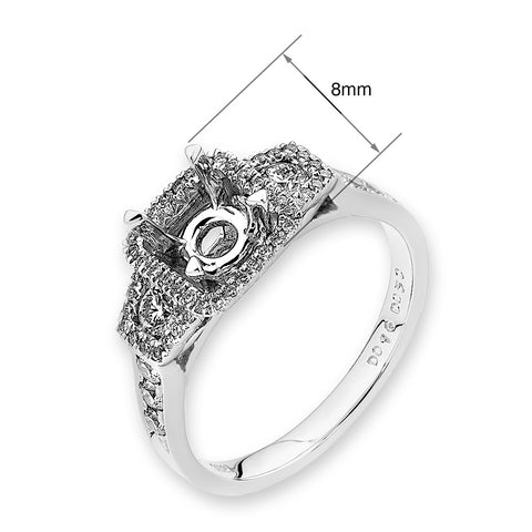 Semi-Mount Wedding Ring L01344R