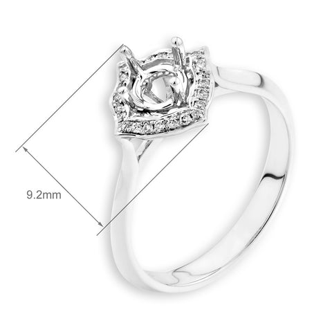 Semi-Mount Elegant Ring L01893R