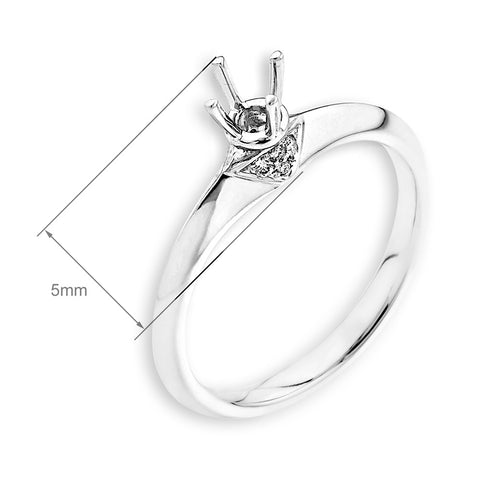 Semi-Mount Simple Engagement Ring L01908R