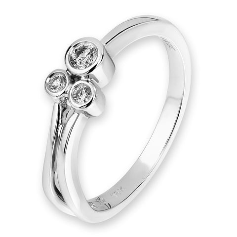 SIMPLE 3 DIAMONDS LADIES RING -N01363R